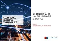 Invitation Global Indirect Tax Conference 2020
